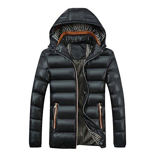 Homme Long Manteau à Capuche Épaisse Chaud Hoodies Parka Blouson Pardessus Duvet Veste