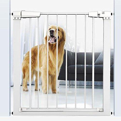 Barrière de sécurité Les Portes De Bébé Extra Larges pour Les Portes Escalier en Métal Blanc Pet Door Wall Protector Intérieur Sécurisé Portes 76-158 Cm De Large (Taille : 116-123cm)