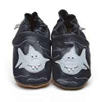 Soft Leather Baby Shoes Shark 0-6 Months