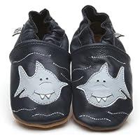 Suaves Zapatos De Cuero Del Bebé Tiburón 24-36 meses