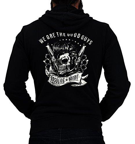 GASOLINE BANDIT® Design - Rockabilly Biker Racer Kapuzen-Jacke Zip-Hoodie: We Are The Good Guys-L Guy Zip Hoodie