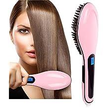 Hairlife Pantalla LCD Cepillo de Pelo rápido alisador de Pelo Peine Cepillo eléctrico Peine Plancha Auto