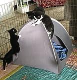 Hundehöhle / Katzenhöhle, Zelt 46 x 46 cm, grau, Tierzelt -