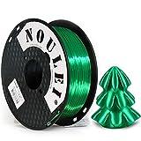 Noulei Filamento de para impresión 3d 1.75mm PLA, Silk JADE GREEN Shiny Printing Filament 1KG 1 Spool