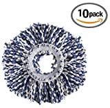 #5: Royal Export Microfiber Spin Mop Refill (White, Pack of 10)