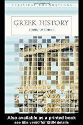 Greek History (Classical Foundations) by Robin Osborne (2004-07-08)