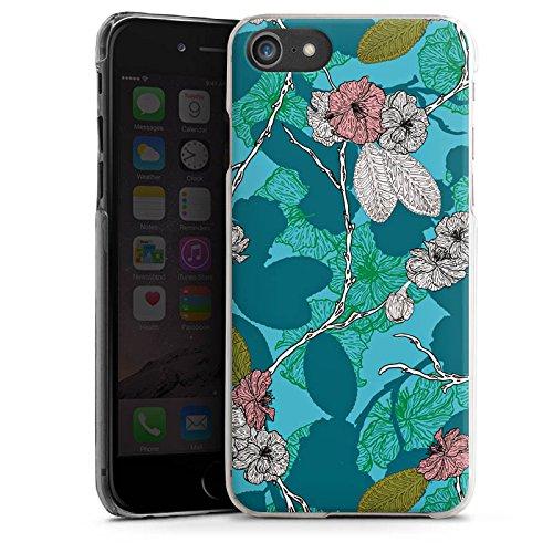 Apple iPhone X Silikon Hülle Case Schutzhülle Kirschblüten Blüten Muster Hard Case transparent