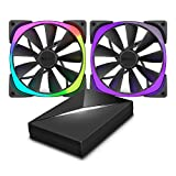 Aer RGB140 & HUE+ – 2 x 140mm Advanced RGB LED PWM Fan with HUE+ Controller