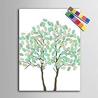 Personalizzato delle impronte digitali stampe su tela pittura - due alberi (include 12 colori di inchiostro) , blank ,