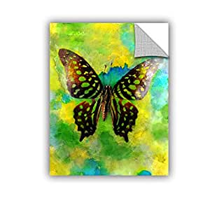 """Elana Ray's Butterfly Art Appeelz Removable Graphic Wall Art, 14 x 18"""", Green/Blue"""