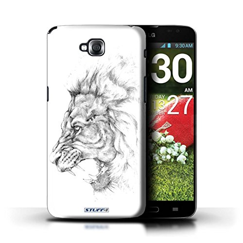 iCHOOSE Print Motif Coque de protection Case / Plastique manchon de telephone Coque pour Apple iPhone 5/5S / Collection Dessin Croquis / Cheval Lion