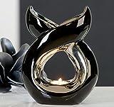 Casablanca - Duftlampe, Aromalampe, Aromabrenner - Lago - Keramik - Farbe: Weiß, Silber