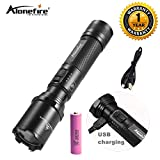 AloneFire TK700 L2 LED Flashlight lamp USB Rechargeable LED Torch Tactical Lamp