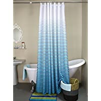 DYHOME Printed Fabric Shower Curtain Polyester Waterproof Mildew Free Bathroom Curtains With Hooks