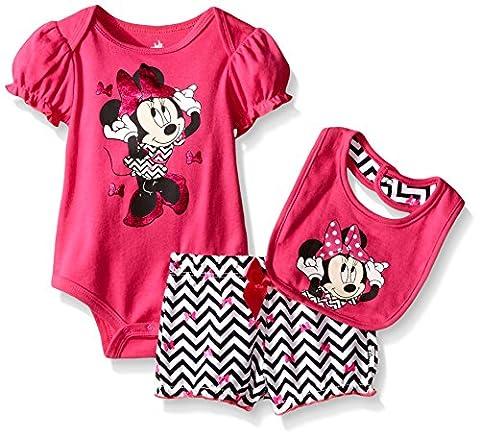 Disney - Ensemble - Bébé (fille) 0 à 24 mois Rose Fuchsia 0-3 mois