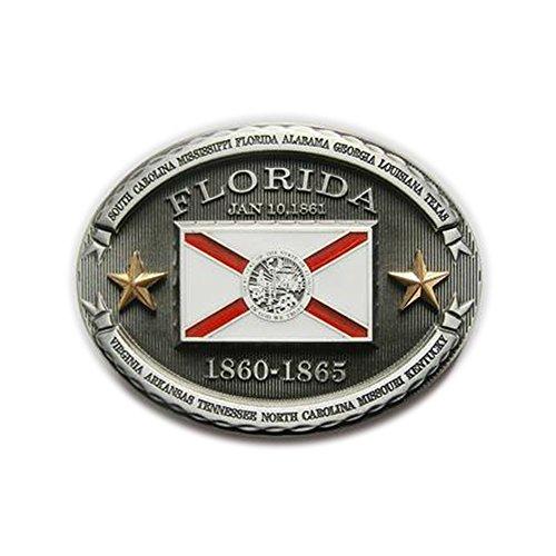 eeddoo Gürtelschnalle Flagge - Staat Florida (Belt Florida)