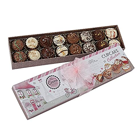Gift Box of Sixteen Cupcake Style Chocolates 7164