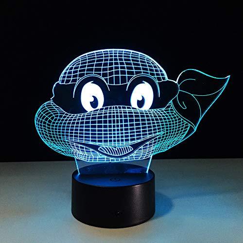 (DDBBhome Mutant Ninja Turtles LED Lampe 7 Farben Ändern Schildkröte Nachtlicht Lampen 3D Touch Nachtlicht Kinder Teenager Geschenk Drop Shipping)