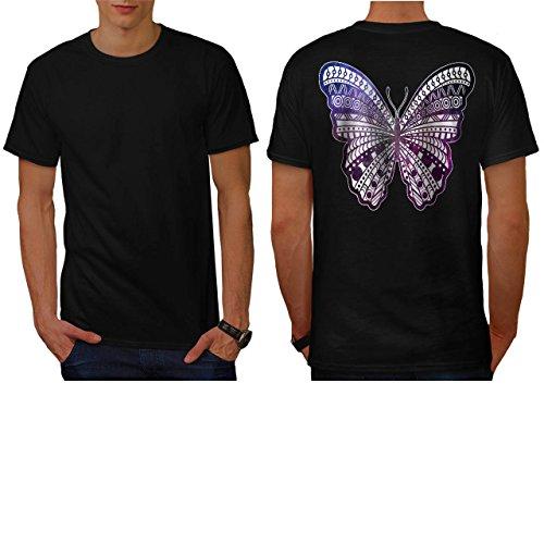 cosmique-papillon-insecte-beaute-homme-nouveau-noir-l-t-shirt-reverse-wellcoda