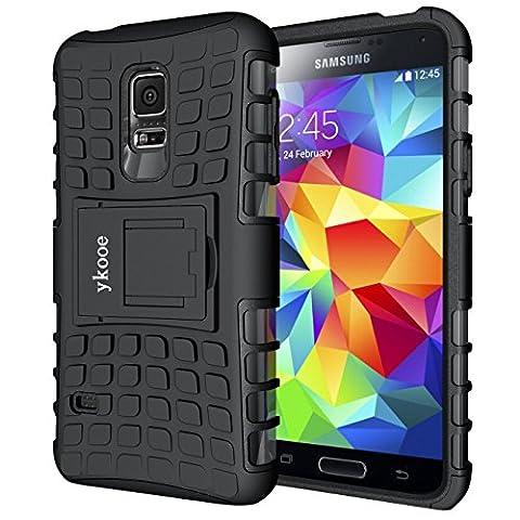Galaxy S5 Mini Hülle, ykooe (TPU Series) S5 Mini Dual Layer Hybrid Handyhülle Drop Resistance Handys Schutz Hülle mit Ständer für Samsung Galaxy S5