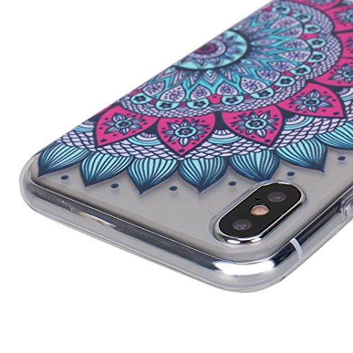 iPhone X Hülle, Asnlove 2 Pack Case Silikon TPU Schale Transparent Durchsichtig [Ultra Dünn] Klar Weiche Bumper-Style Handyhülle Premium Schutzhülle für iPhone X / iPhone 10 5.8 Zoll 2017 Case Cover - Style-20