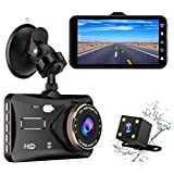 Dual Dash Cam 4.0 Inch Touch Screen 1080P FHD Car Dashboard Camera Video