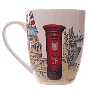 Jan Pashley Motif Monuments Londres-Mug en porcelaine-PDS
