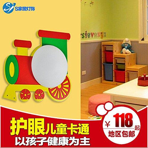 Chrom Wand Globus (BESPD Kinderzimmer Led Energiesparen Zug Kinder Wohnzimmer Wand Lampen Flur Treppe Studie Schlafzimmer Bett (ohne Lichtquelle))