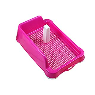 Haustier-Toilette, spritzwassergeschützte Gitter-Hundetoilette mit Pfosten männlicher Hundebisshund-Urinaltrompete verwendbar für Welpen ( größe : Long56.5cm )