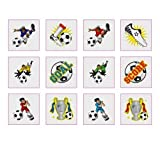 72 X Football Tattoos Party Bag Toys