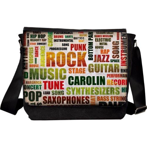 Preisvergleich Produktbild Herz & Heim® Umhängetasche Motiv Rockmusik mit Name: Carolin