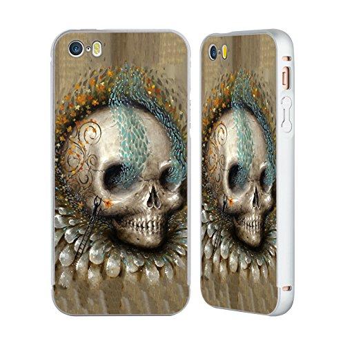 Ufficiale Jason Limon Bocciolo Di Sole Teschio Argento Cover Contorno con Bumper in Alluminio per Apple iPhone 6 Plus / 6s Plus Bocciolo Di Sole