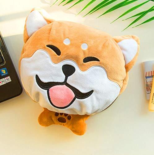Alfombrilla de ratón con calefacción USB para perro, para invierno y felpa, calentador de manos