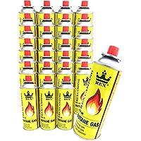 REX Camping Gaskartusche BUTAN-Gas à 227 g Inhalt pro Flasche für Camping-Kocher Outdooraktivitäten Grillen erhältlich in 4er, 8er, 12er, 24er und 28er-Pack