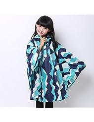 Cloak Of Children Raincoat Boy École primaire Étudiant poncho Imperméable imperméable à une pièce avec 3 couleurs