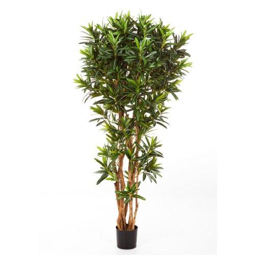 artplants Künstlicher Goldfinger-Croton-Baum, 1430 Blätter, 150 cm – künstlicher Baum/Kunstpflanzen