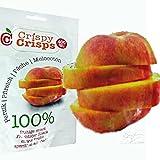 3 Packungen Crispy Crisps Fruchtsnack Pfirsich a 18 g gefriergetrockneter Snack