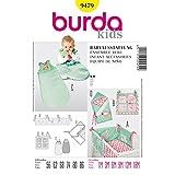 Burda 9479 babyuitrusting: nestje, gebruiksvoorwerpen, slaapzak en wikkeldoek maat 56-86