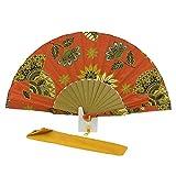 Abanico batik estampado Talla: U Color: NARANJA