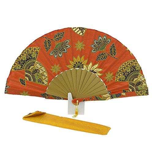 Stamped Batik Fan Orange