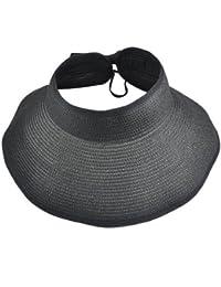 Sombrero de paja de borde ancho VISKEY Fashion Girl Lady, para la playa, sol, visera plegable
