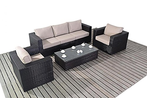 Kingston garden furniture large sofa set garden rattan for Furniture kingston