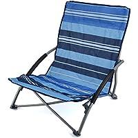 Folding Sun Lounger Beach Mat Lightweight Portable Adjustable Back Rest With Bag