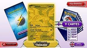 ZEKROM GOLD secrete 115/113 130HP Legendary Treasures - Booster optimisé Attaque Eclair de 10 cartes pokemon ANGLAISES