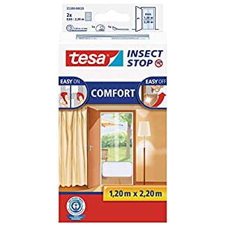Tesa Insect Stop Comfort Red Anti Mosquitos Puerta Blanco – Mosquiteras (2200 x 60 x 1200 mm, Blanco, 454 g)