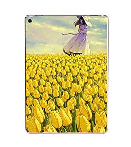 Fuson Beautiful Girl Designer Back Case Cover for Apple iPad Pro 9.7 Inches :: Apple iPad Pro Wi-Fi + Cellular (3G/LTE) 9.7 Inches :: Apple iPad Pro Wi-Fi (Wi-Fi) (Greenary Wood Rose Tiger Bee Bird)