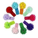Banda para el cabello,Switchali 10 piezas Bebé chicas Niñas moda Paño elástico Bowknot floral Venda Turbante Envoltura de la cabeza Fotografía Atrezzo Diadema Accesorios Joyas para el pelo