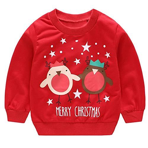design senza tempo 10cce 97f58 Vovotrade ⚘ Collare Rotondo per Bambini Maglione di Natale, Abbigliamento  per Bambini Ragazzi per Ragazze Manica Lunga Cartone Animato Babbo Natale  ...