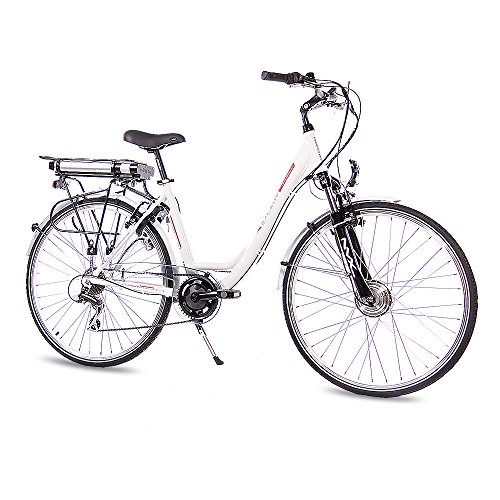 """'28""""City Pedelec E-Bike Vélo en aluminium de chrisson E de Lady avec 7g Shimano Blanc 50cm de 71,1cm (28pouces)"""
