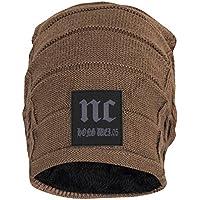 FabSeasons WC31 Acrylic Skull Cap, Free Size (Light Brown)